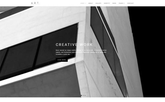 Art - Minimal Design Portfolio & Photography WordPress Theme