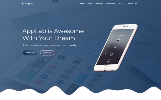 Multifunctional Applications One-Page WordPress Theme