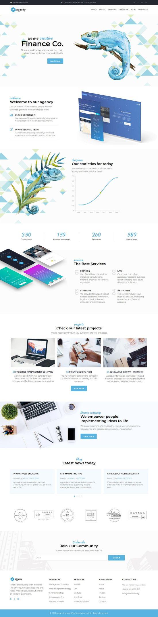 Azzury WordPress Theme