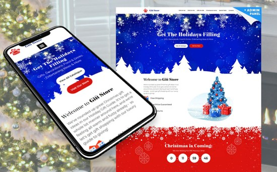 Gift Store - Modern Christmas Landing Page Template