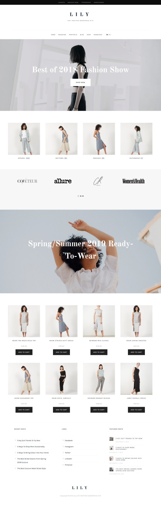 lily wordpress theme 01 - Lily WordPress Theme