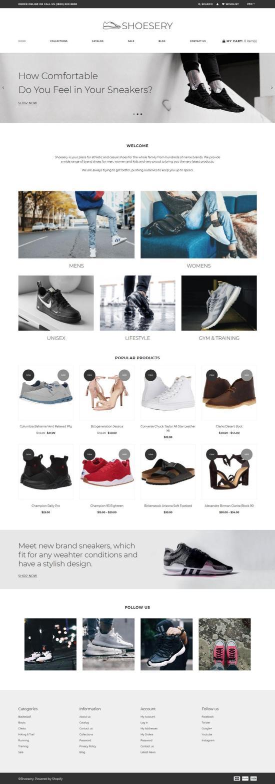 shoesery shopify theme 01 - Shoesery Shopify Theme