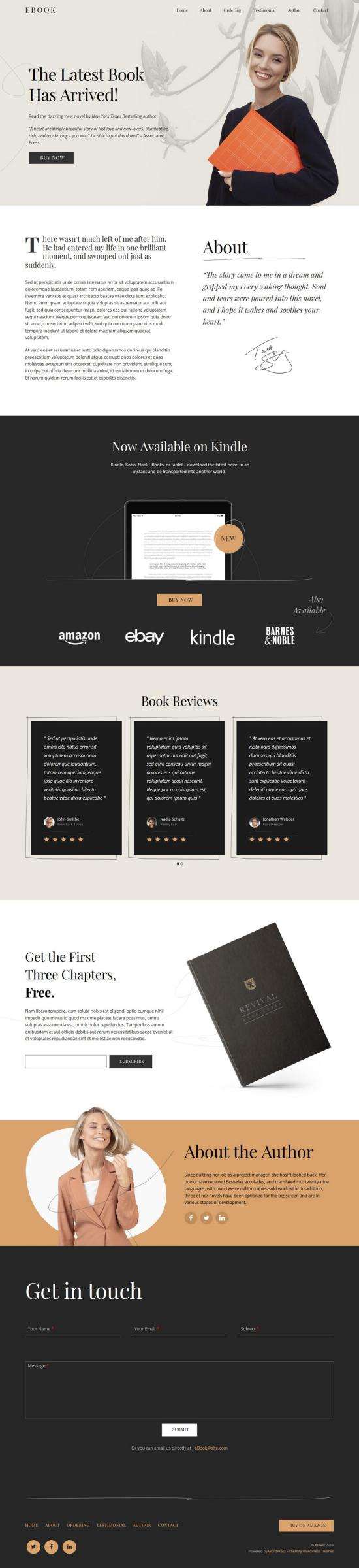 ultra book wordpress theme 01 - Ultra Book WordPress Theme