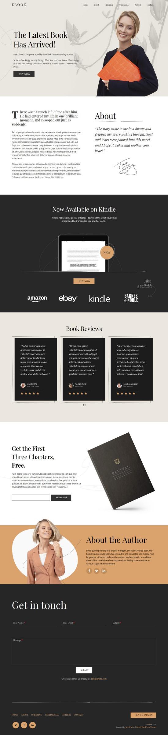 Ultra Book WordPress Theme
