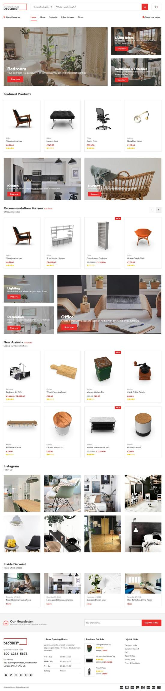 decorist wordpress theme 01 - Decorist WordPress Theme