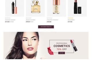 elegant cosmetic opencart theme 01 - Elegant Cosmetic Opencart Theme