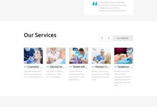 global dental center joomla template 01 - Global Dental Center Joomla Template