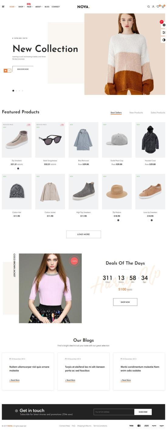 Nova PrestaShop Theme Demo