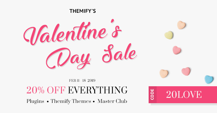 themify valentines day sale 01 - Themify Valentine Day Sale - 20% Off