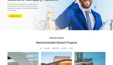 buildwall wordpress theme 01 - Buildwall WordPress Theme