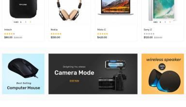 escocer electronics opencart theme 01 - Escocer Electronics OpenCart Theme