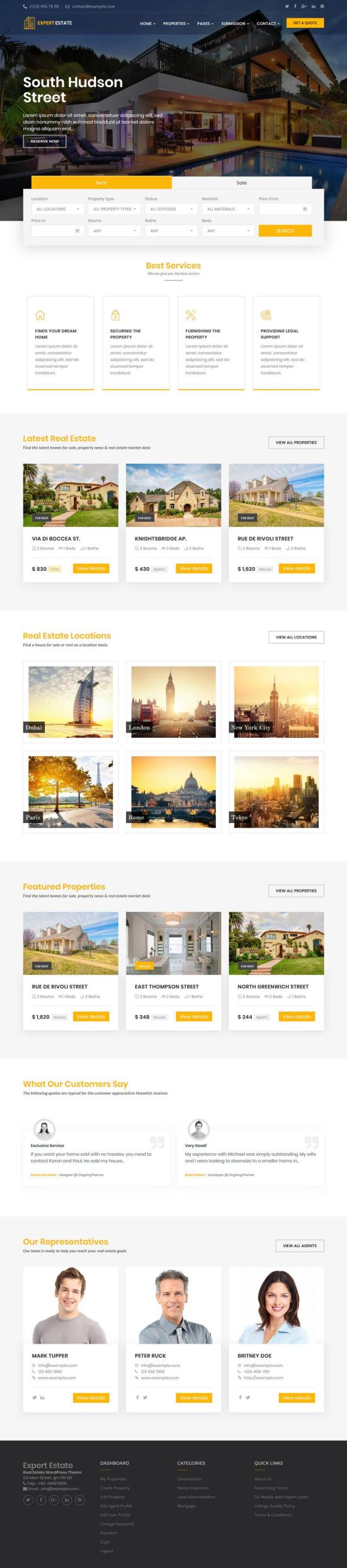 ExpertEstate WordPress Theme