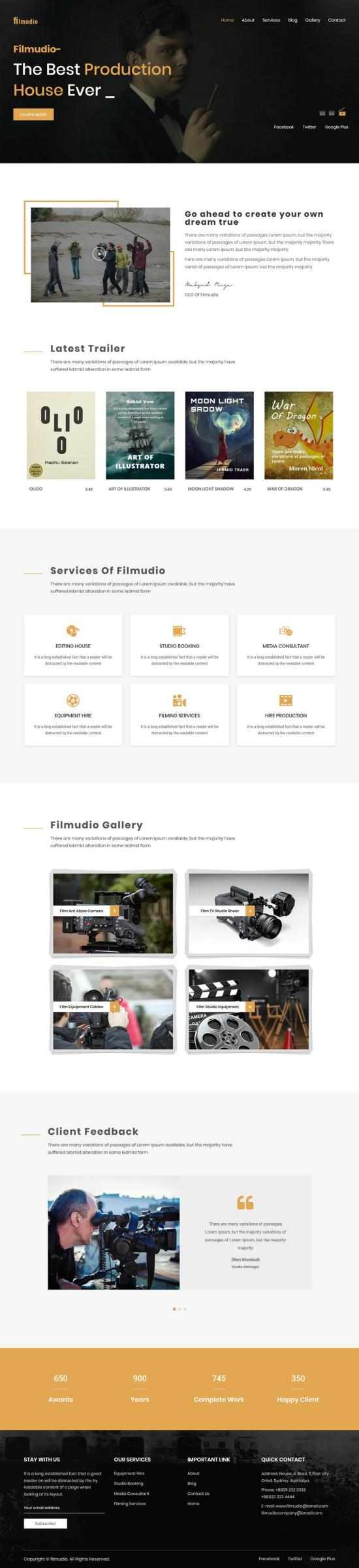 filmudio wordpress theme 01 - Filmudio WordPress Theme