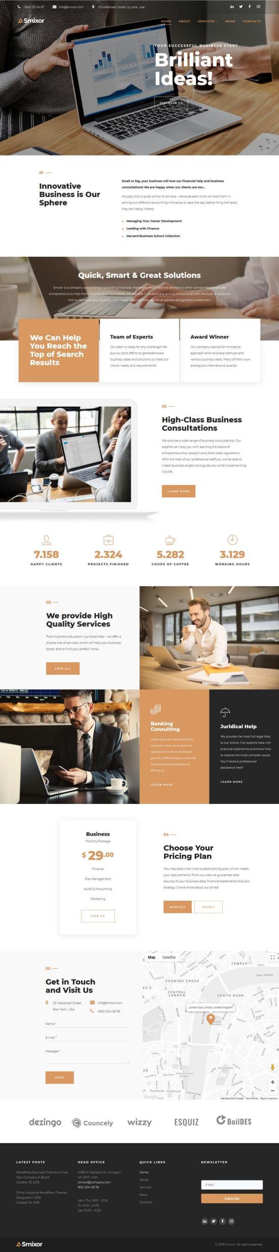 Smixor WordPress Theme