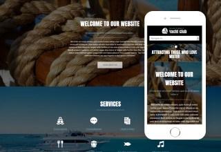 yacht club joomla template 01 - Yacht Club Joomla Template