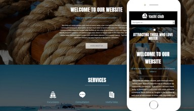 yacht club joomla template 01 - Yacht Club Joomla Template