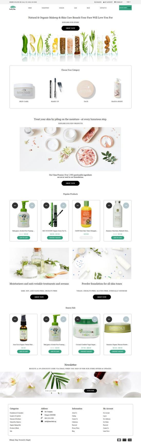 beauty shop shopify theme 01 - Beauty Shop Shopify Theme