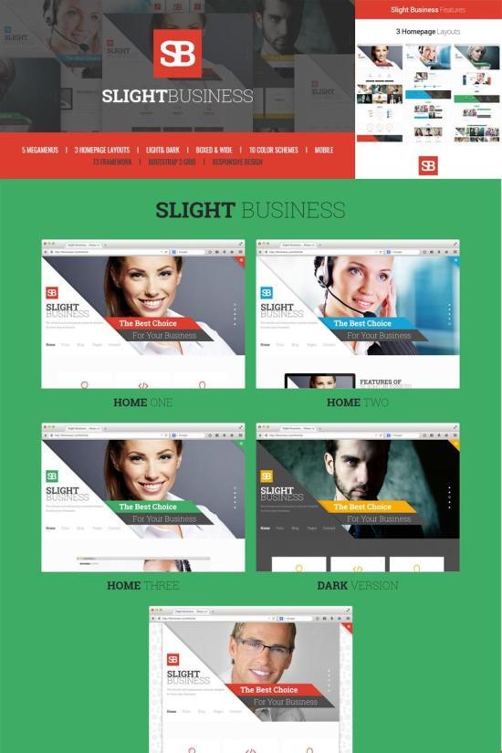 Slight Business Joomla Template Preview