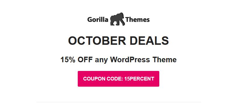 Gorilla Themes Coupon