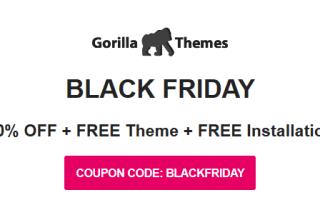 gorilla themes black friday 2019 01 - 30% Off Gorilla Themes Black Friday & Cyber Monday 2019