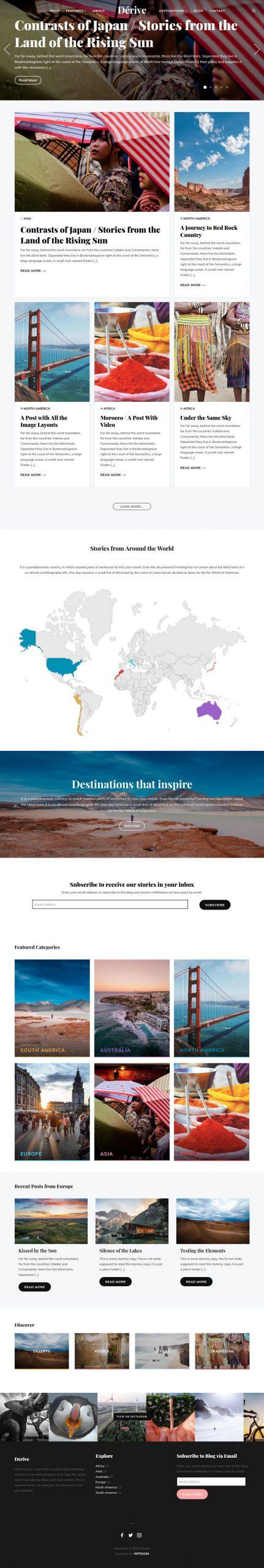 dérive–wordpress theme 01 scaled - Dérive WordPress Theme