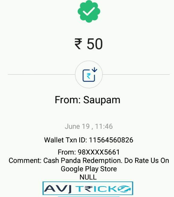 cash Panda app Proof