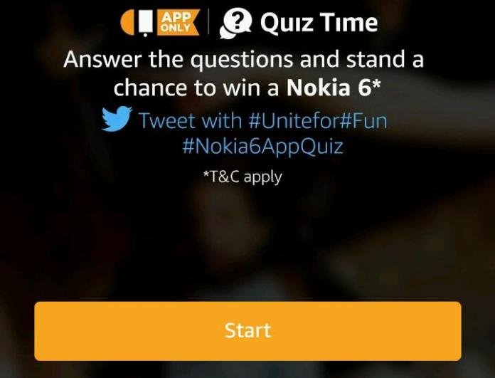 Amazon Nokia 6.1 Quiz Answers – Participate To Win Nokia 6.1 Android device