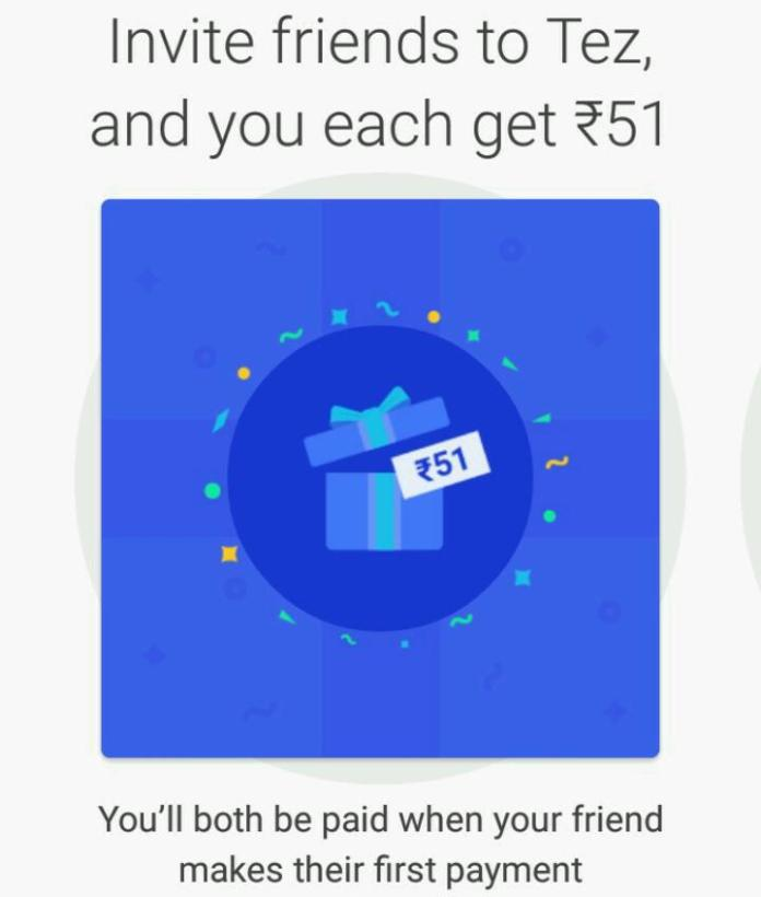 Google Tez Referral code