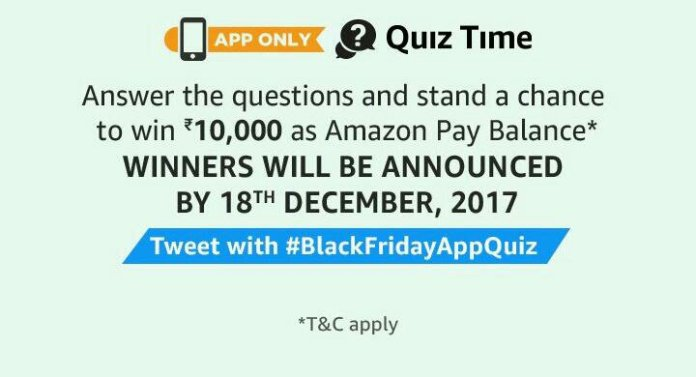 Amazon Black Friday Quiz Answers