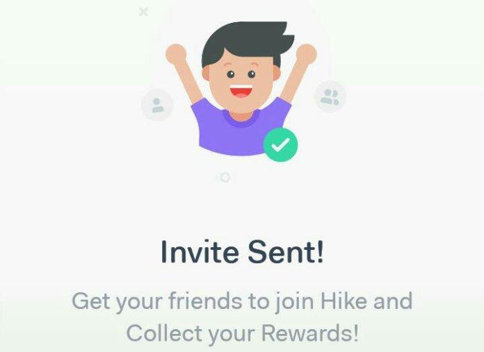 Hike send invites