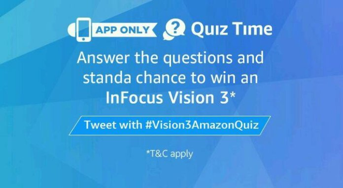 Amazon InFocus vision 3 Quiz answers
