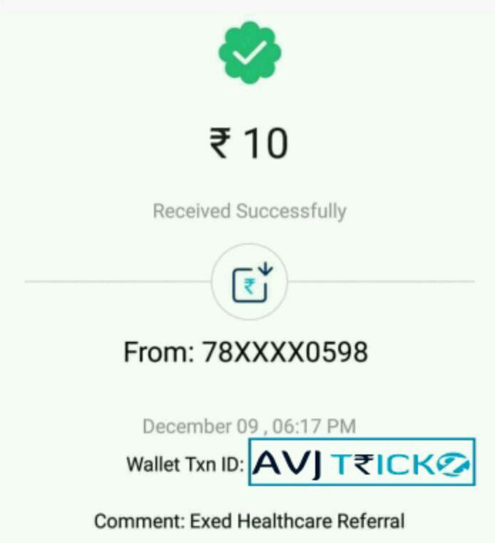 Exed app PayTM Proof