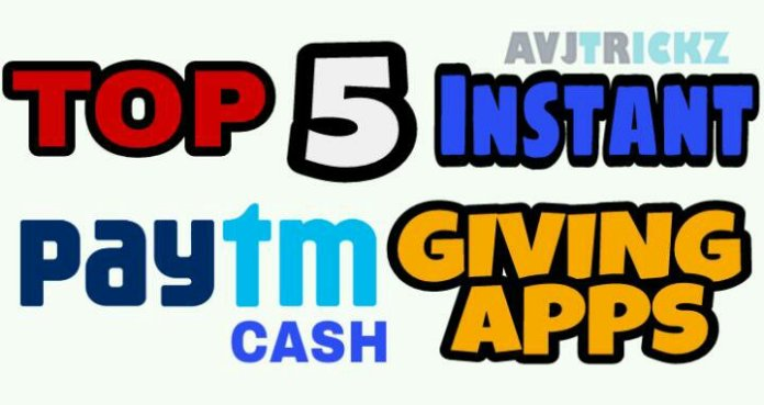 Top 5 free Paytm cash earning apps 2017-2018