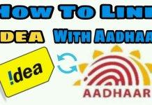 Link aadhaar with Idea Mobile Number Online & offline