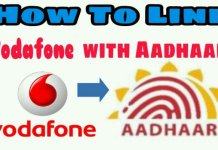 link aadhaar with vodafone mobile number