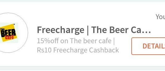 Freecharge Beer cafe offer - Get Rs 10 Free Recharge for All users