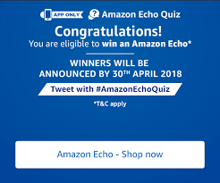 Amazon Echo Quiz Answers - Participate and win amazon echo device