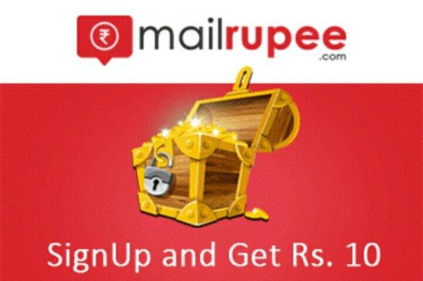 MailRupee Website - Get 10 Rs On Signup + 3 Rs Per Refer