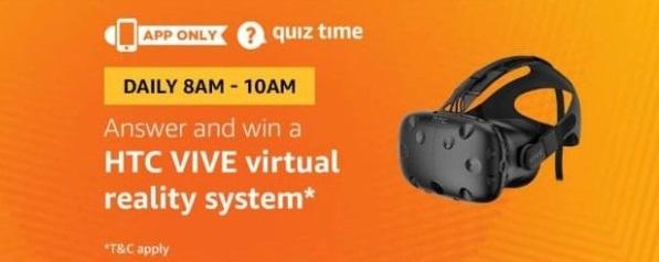 Amazon Htc vive Quiz Answers - Win Htc vive virtual Reality System