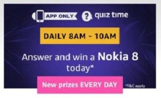 Amazon Nokia 8 Quiz Answers - Win Nokia 8 Smartphone