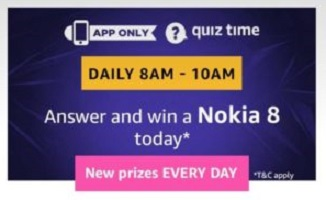 Amazon Nokia 8 Quiz Answers - Win Nokia 8 Smartphone