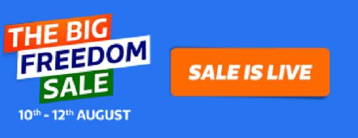 Flipkart The Big Freedom sale 2018 - 10th -12th August (*Big deals)