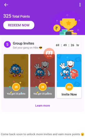 Hike App 6.0: New Rewards Offer Get UpTo Rs.50 Per Invite