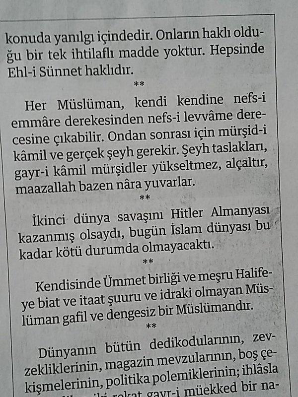 Milli Gazete, 26 Nisan 2016