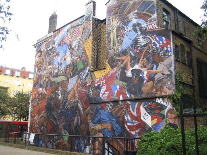 Cable Caddesi Savaşı anısına yapılan bir duvar resmi