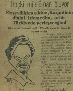 1 Nisan 1929, Vakit. Gazetenin yaptığı 1 Nisan şakası (Kaynak: Foti Benlisoy / Twitter)