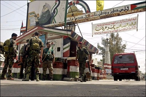 Entrada dun camp de palestins