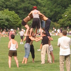 people pyramid at central park