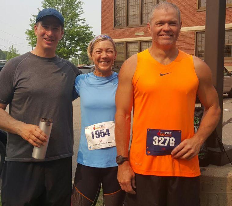 Rob, Karen and Aaron after Firecracker run