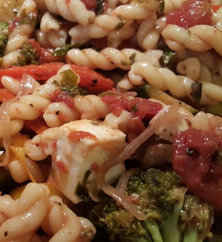 ratatoulli with cheese and brocolli